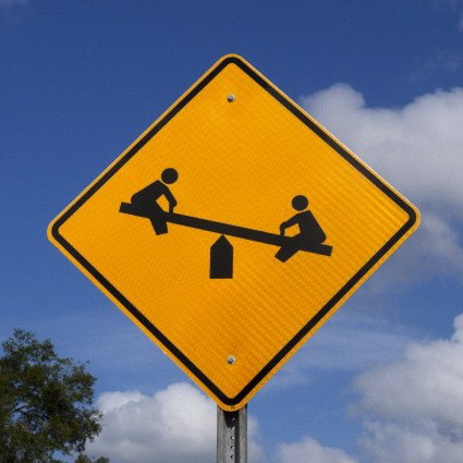Florida, USA --- Traffic warning sign for children's playground. --- Image by © 68/Pat Canova/Ocean/Corbis