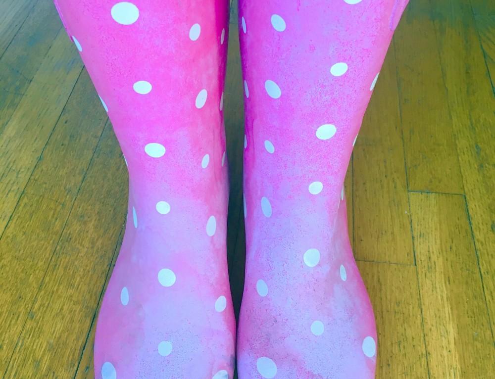OYTACC: Day 87 (polka dot rain boots)